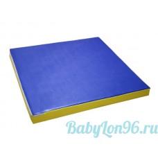 Мат гимнастический 1*1*0,01м цв.синий-желтый