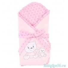 """Конверт-одеяло """"Весёлые мишки"""" розовый (Leader Kids)"""
