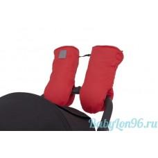 Муфты-рукавицы на липучке цвет:красный