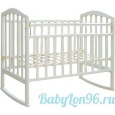 Кровать Алита 2 (белый ) колесо-качалка
