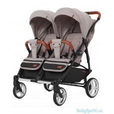 Коляска для двойни Carrello Connect 5502 (cotton beige)